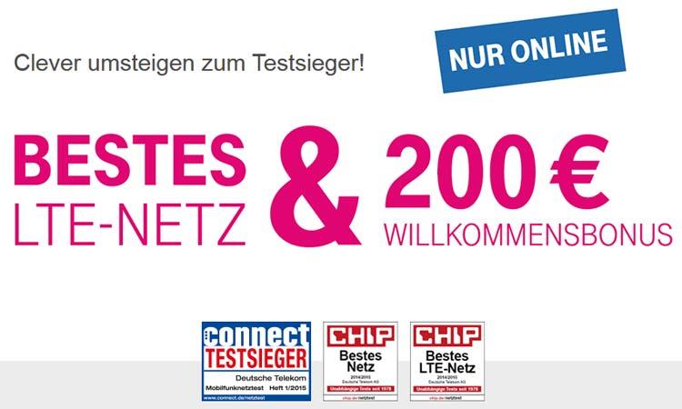 Telekom Lobt 200 Euro Willkommensbonus Für Anbieterwechsler Aus