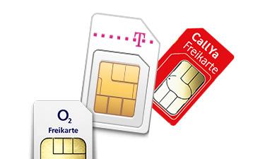 Prepaid SIM-Karten von Telekom, Vodafone, o2
