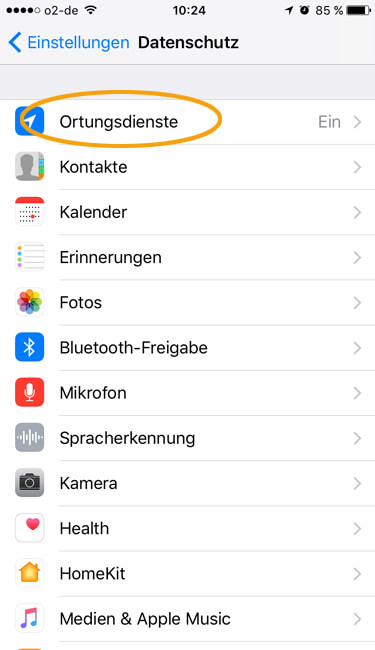 Standort iphone ausschalten