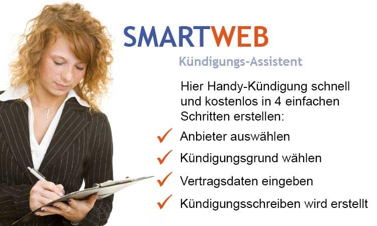 SmartWeb Kündigungs-Assistent