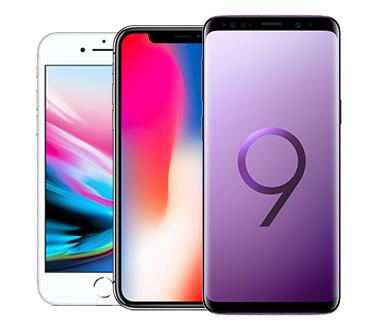 Bis zu drei Handys auswählen und direkt vergleichen