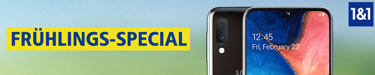 1&1 Frühlings-Special mit Samsung Galaxy A20e