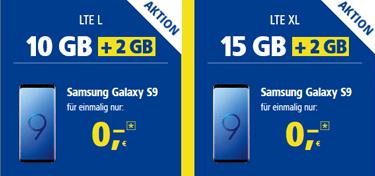 Samsung Galaxy S9 mit 1&1 All-Net-Flat bestellen