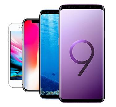 Auswahl aktueller Smartphones bei 1&1