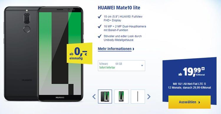 Huawei Mate 10 Lite bei 1&1