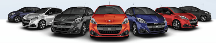 Peugeot 208 Farbauswahl bei 1&1 Sixt