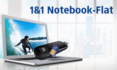 Screenshot: Online-Shop mit 1&1 Notebook Flat