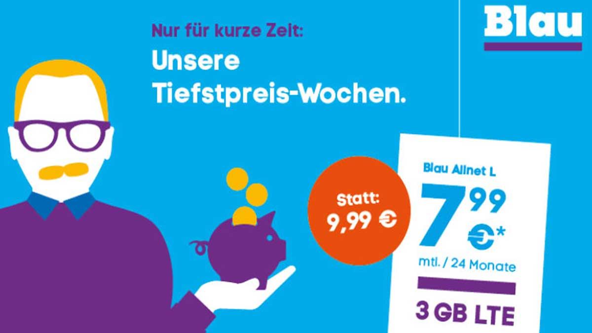 Blau Tiefstpreis-Wochen