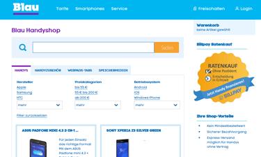 Blau Handyshop - Smartphones ohne Vertrag