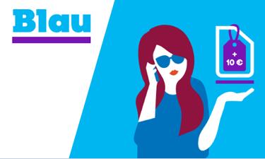 Blau Prepaid Online-Shop