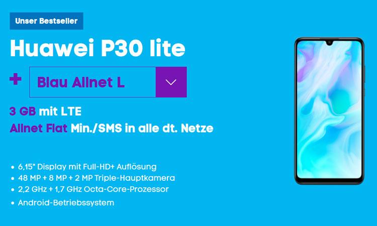 Huawei P30 lite mit Blau Allnet L