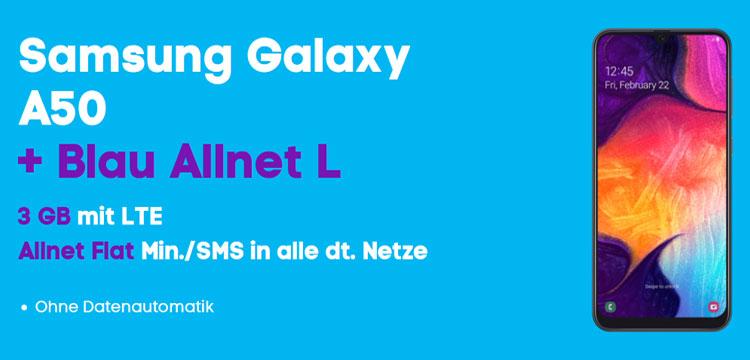 Samsung Galaxy A50 mit Blau Allnet L