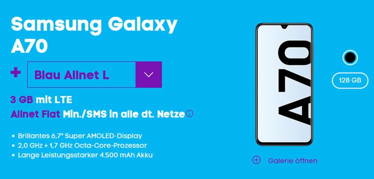 Samsung Galaxy A70 mit Blau Allnet L
