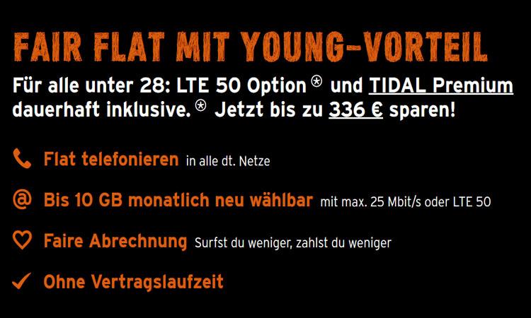congstar Fair Flat mit Young-Vorteil