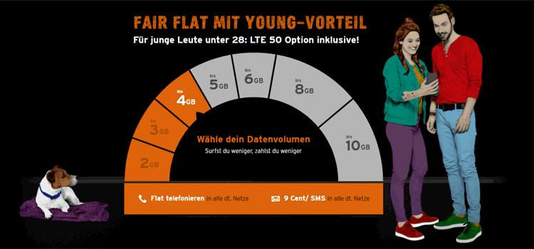 congstar Fair-Flat: Auswahl Datenvolumen