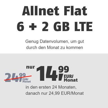 Klarmobil Aktion - 6 GB LTE für 14,99€