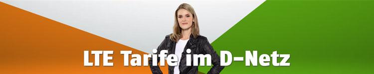 """Klarmobil Kosten Banner: """"LTE Tarife im D-Netz"""""""