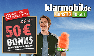 Klarmobil Online-Shop (Screenshot)