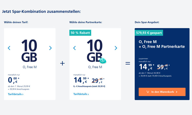 o2 Free Partnerkarte
