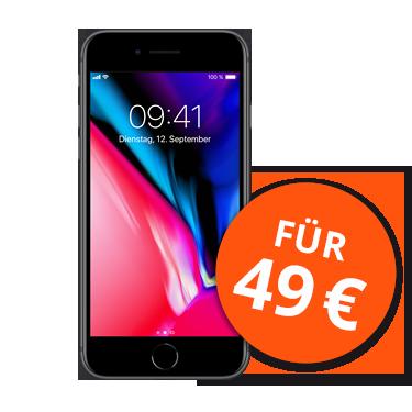 iPhone 8 bei o2 mit Rabatt