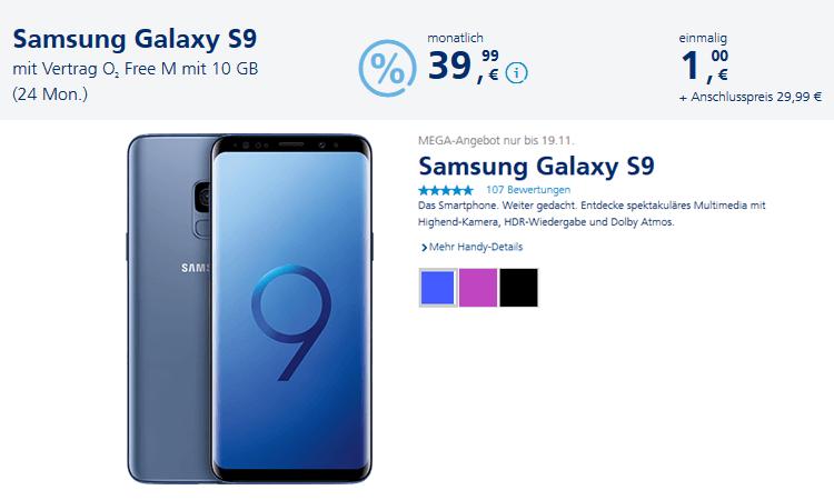 Screenshot o2 Online-Shop