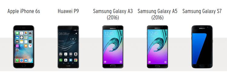 Smartphones bei Otelo (Auswahl)