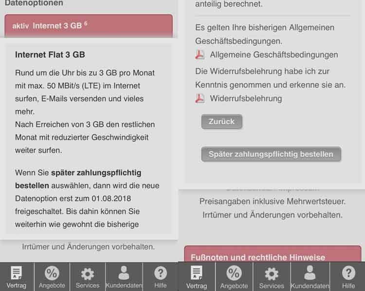 PremiumSIM Datenautomatik deaktivieren - Schritt 2