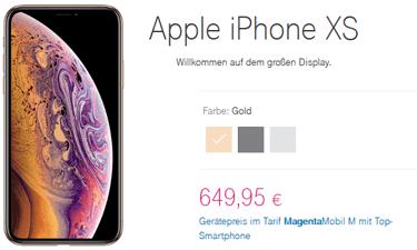 iPhone XS bei der Telekom