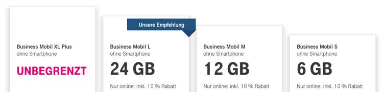 Telekom Business Mobil Tarife