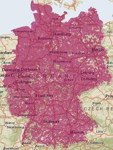Telekom LTE Netzabdeckung Karte