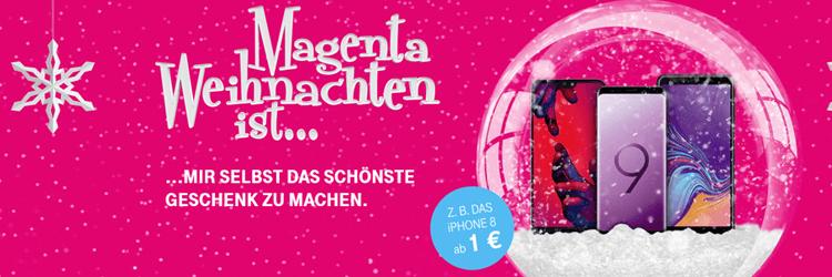 Telekom Magenta Weihnachten - Top-Smartphones für 1,- Euro