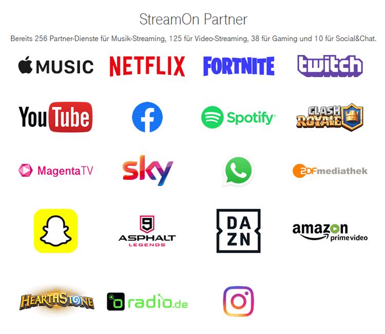Telekom StreamOn Partner