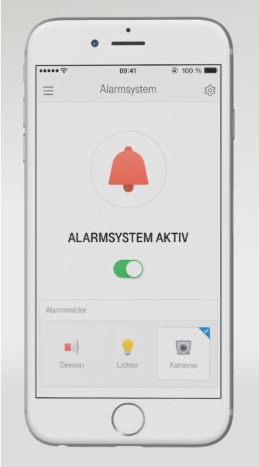 Einbruchschutz: Alarmsystem im Telekom Smart Home aktiviert