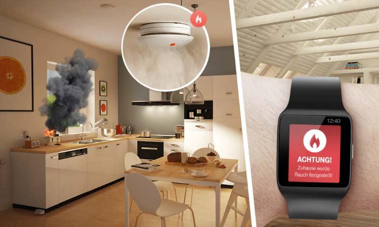 Telekom Smart Home App - Feueralarm in der Küche