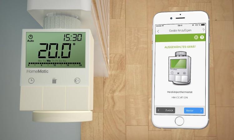 Die intelligenten Thermostate können direkt per Smart Home App gesteuert werden