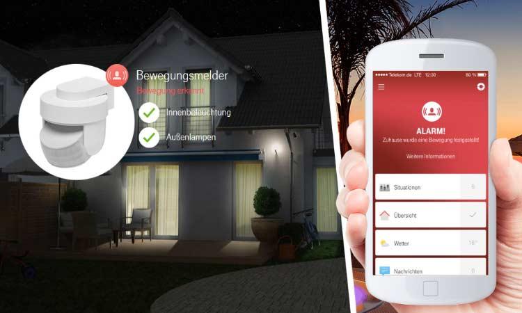 Telekom Smart Home: Bewegungsmelder schlägt Alarm
