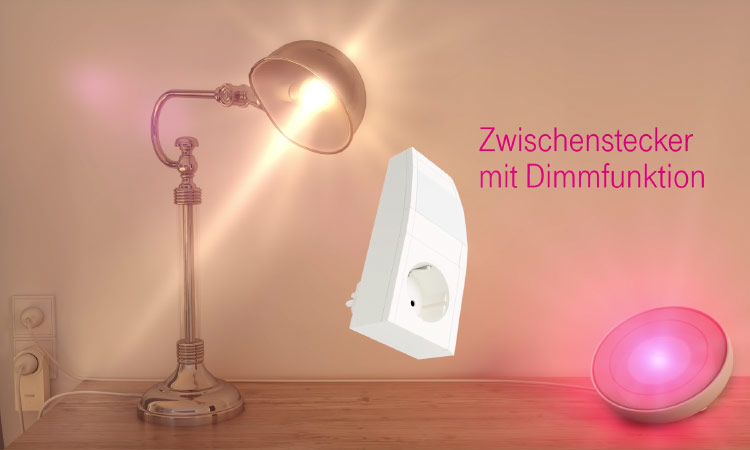 Macht auch das Dimmen möglich: Telekom Smart Home Zwischenstecker
