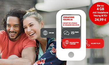 Screenshot Red Young Tarife Vodafone Online-Shop