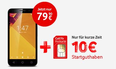 Vodafone CallYa Karte mit Smartphone bestellen