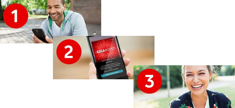 Vodafone GigaBoost per App buchen
