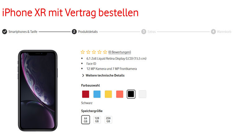 Vodafone Red iPhone XR