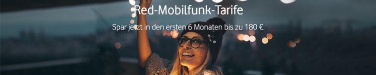 Teaser Header - Vodafone Red 6 Monate lang 19,99 €
