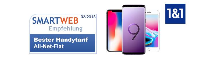 1&1 Allnet Flat - SmartWeb Tariftipp des Monats