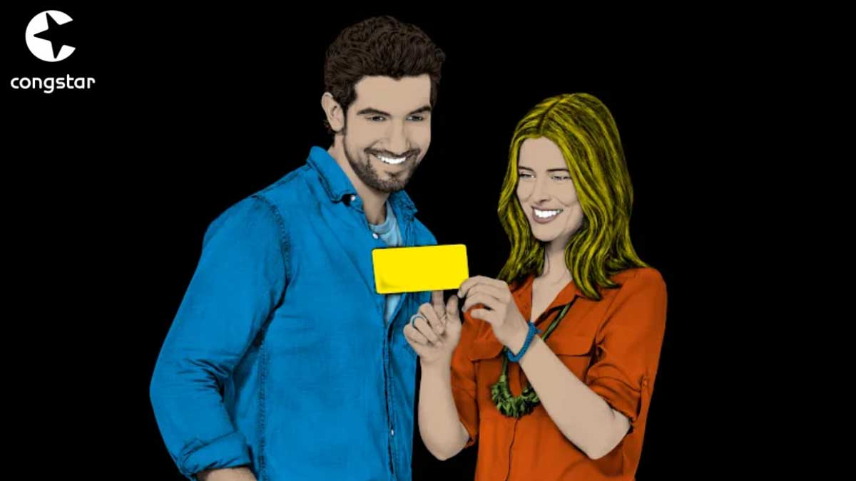 Mann und Frau mit congstar prepaid