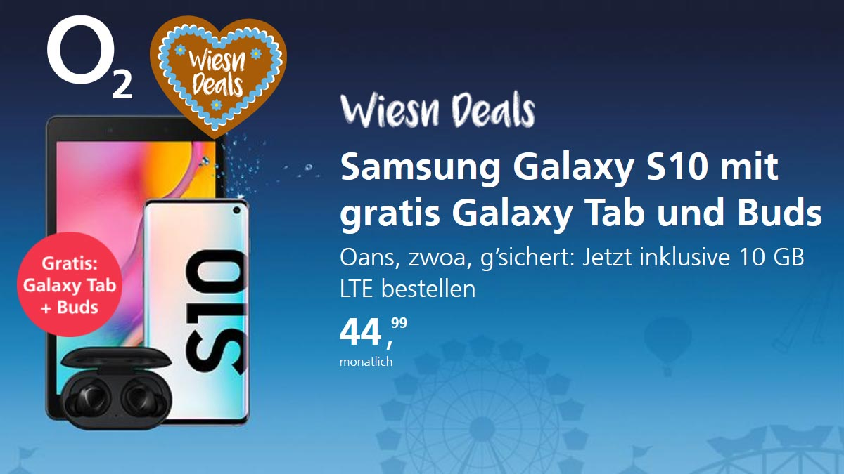 o2 Wiesn Deals mit Samsung Galaxy S10