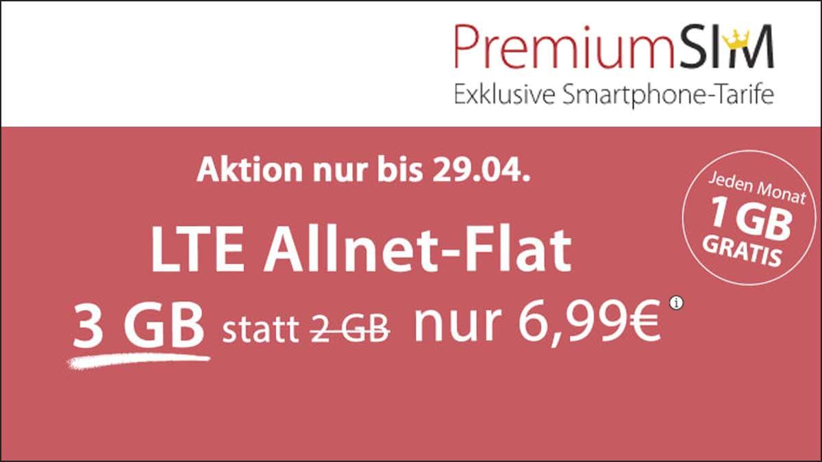 PremiumSIM Aktion Tarif LTE S