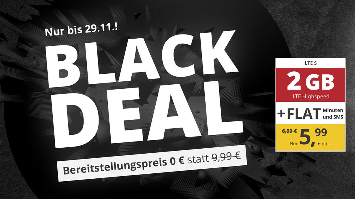PremiumSIM Black Deal Angebot: 2 GB LTE Datenvolumen für 5,99 €