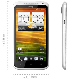 Abmessungen HTC One XL