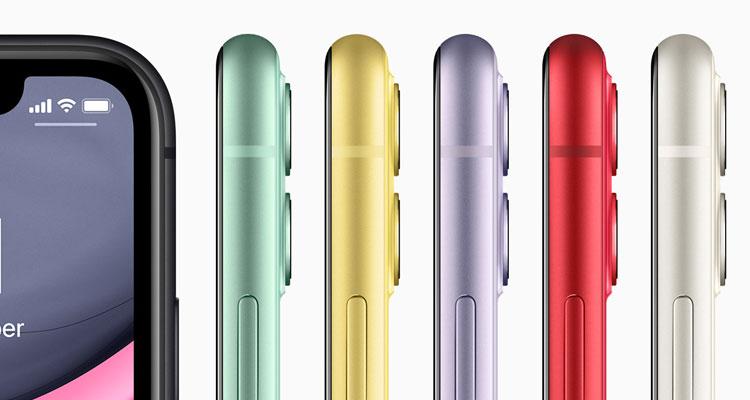 iPhone 11 Farben seitlich