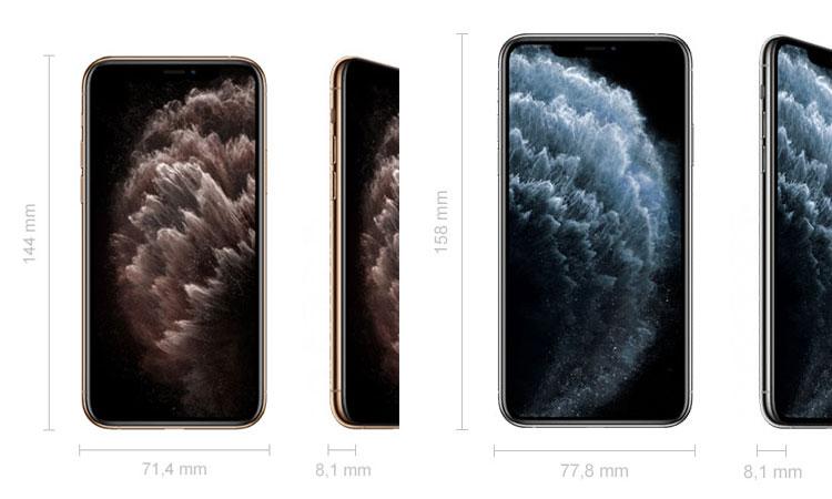 Größenvergleich: iPhone 11 Pro und iPhone 11 Pro Max